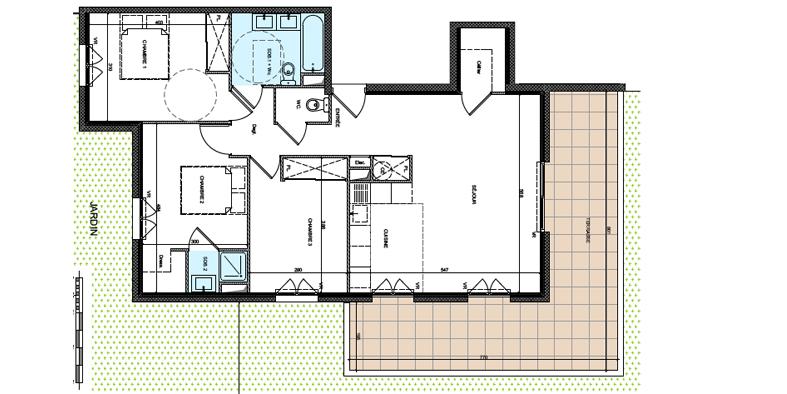 Plan de l'appartement T4