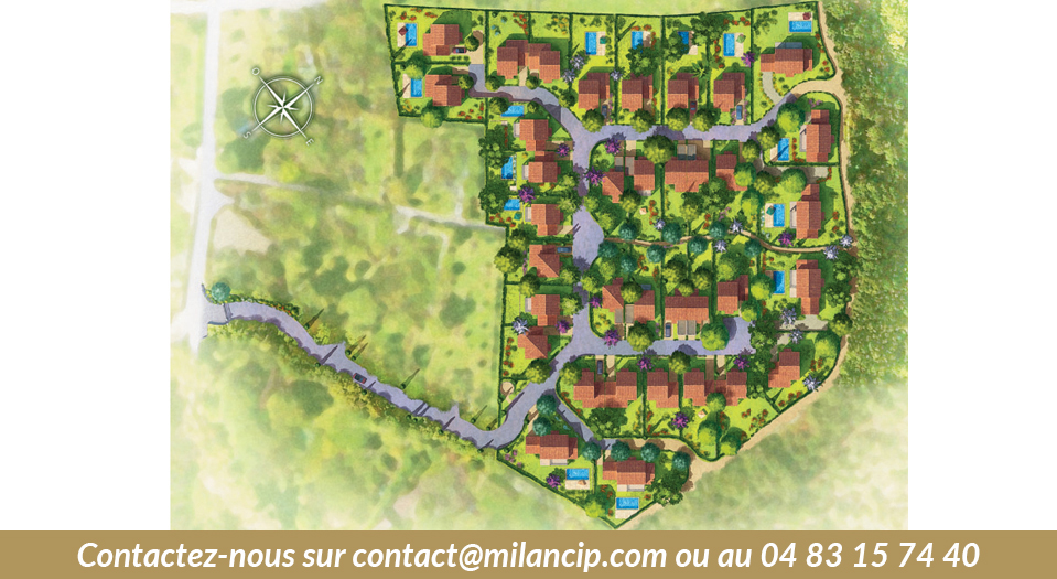 Plan e masse des Villas neuves de BIOT