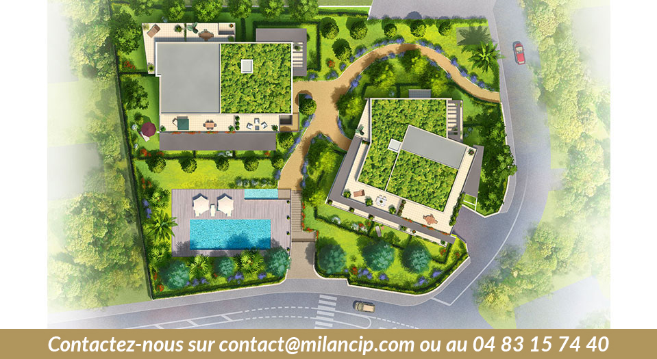 Immobilier neuf ANTIBES St Jean - Plan masse