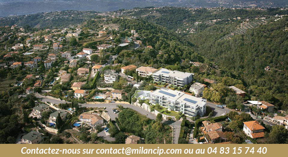Immobilier neuf NICE COLLINE Saint Pancrace - Implantation sur la colline