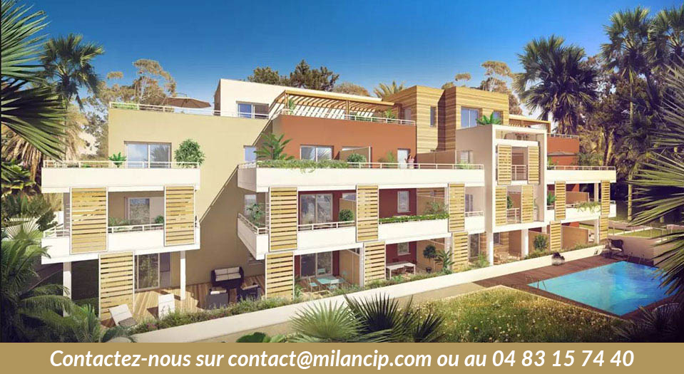 Programme neuf ANTIBES parc Laval - Facade vue 2