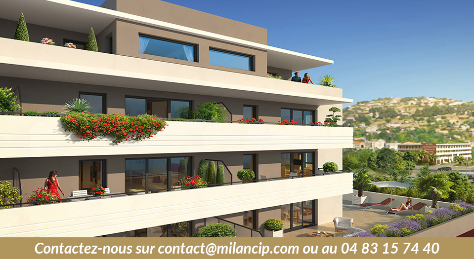 Appartements neufs NICE OUEST St Isidore - Vue vers les collines
