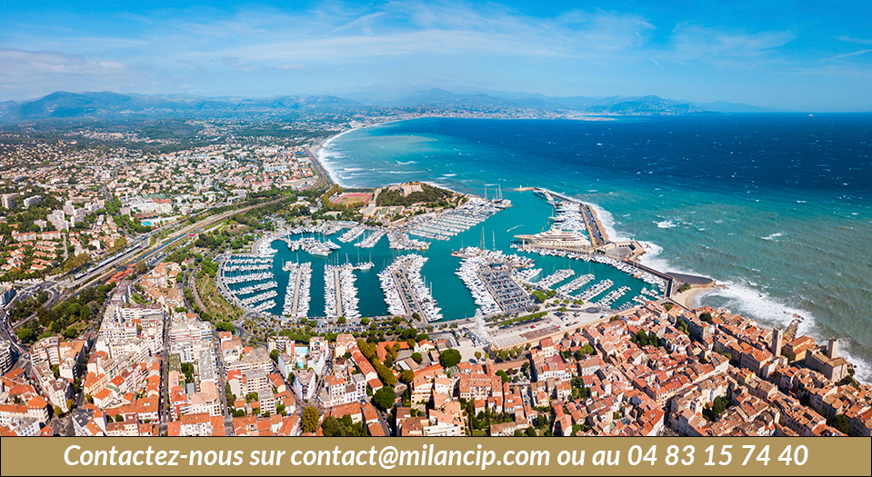 Immobilier neuf ANTIBES Tanit - Vue aérienne d'Antibes