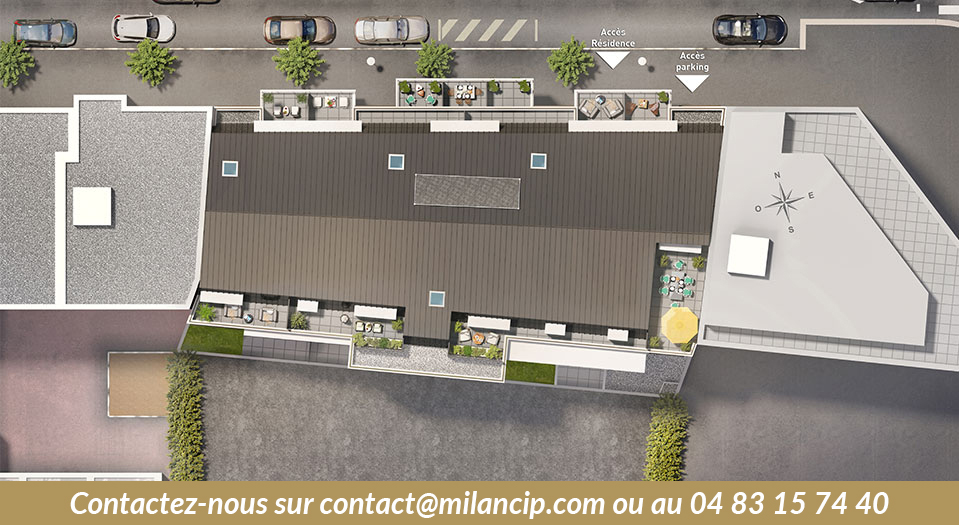 Immobilier neuf 06 NICE CENTRE St Roch - Plan masse