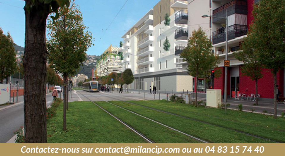 Programme neuf NICE CENTRE St Jean d'Angely - Le tramway