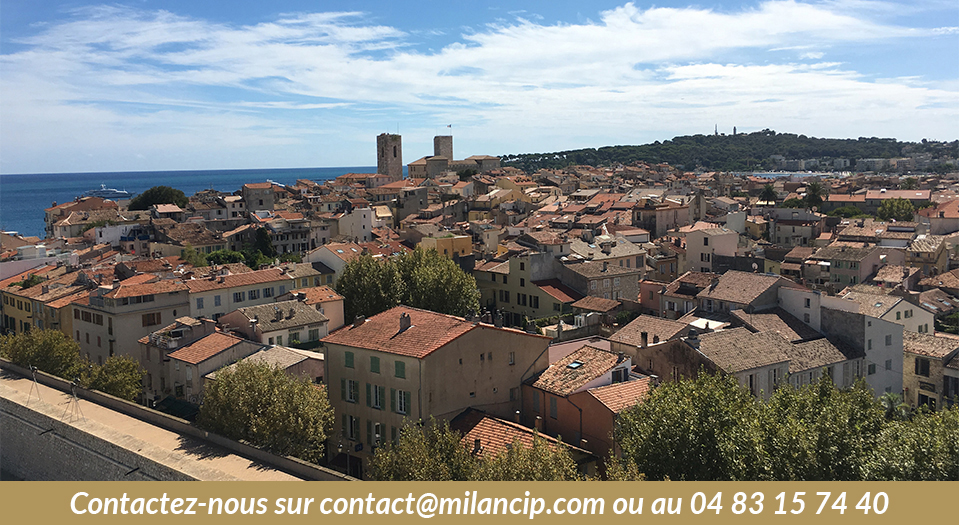 Programme neuf ANTIBES Le Puy - Vue du vieil Antibes