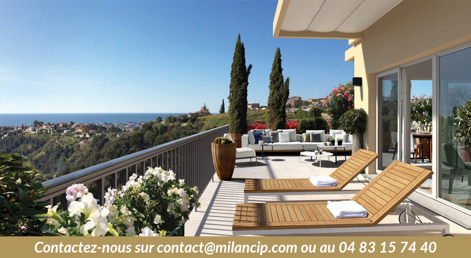 Immobilier neuf NICE COLLINE Pessicart - Vue des terrasses