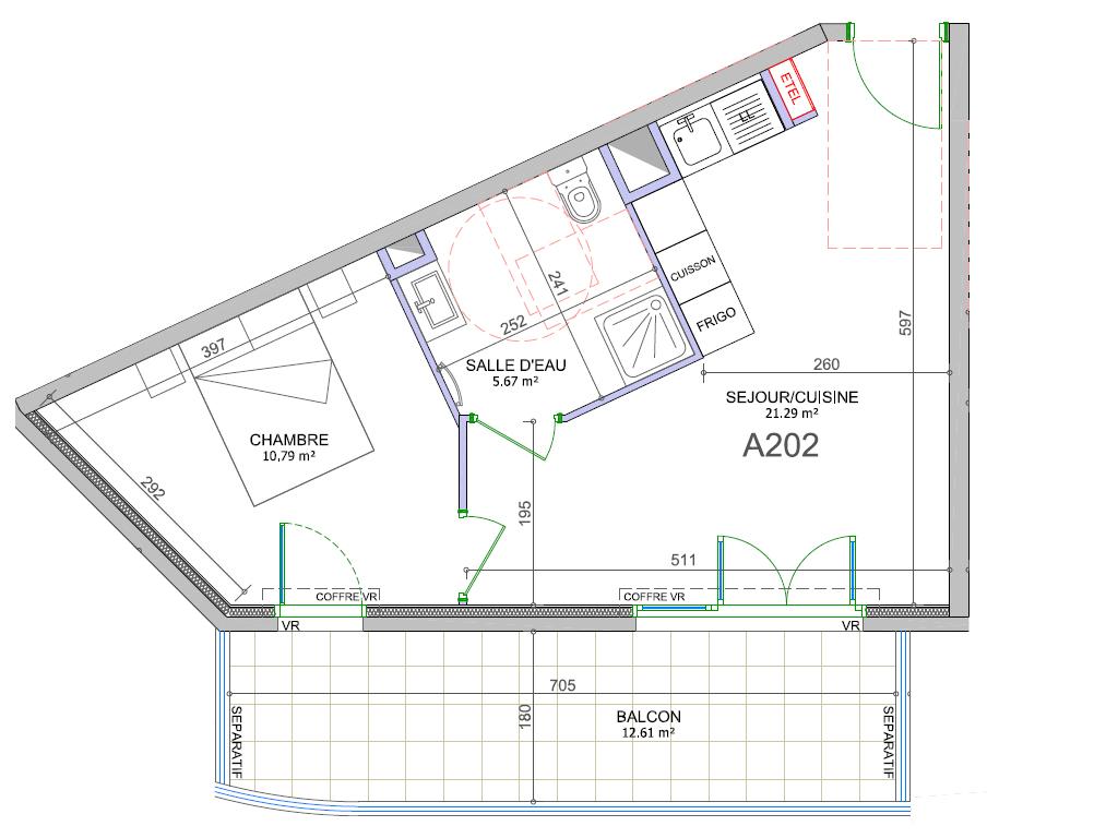Plan du lot A202