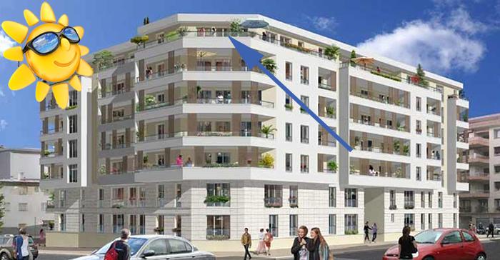 Le plus bel appartement de ce programme du centre de Nice est enfin mis sur le marché.