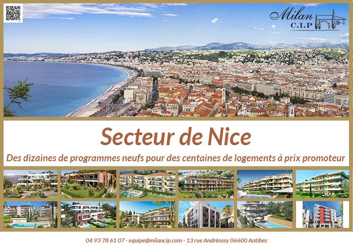 Focus sur les 22 programmes neufs de Nice et 295 lots disponibles