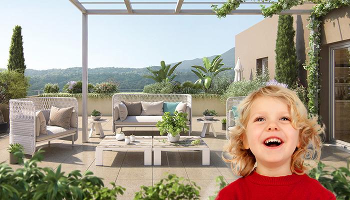 Le calme de la campagne aux portes de Nice pour 283 000€ (T3 neuf + terrasse + 3 parkings)