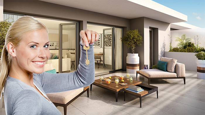Nice - Dernier étage - Plein Sud - Votre appartement neuf de 69 m² avec terrasse + Garage + cave pour 412.000 €