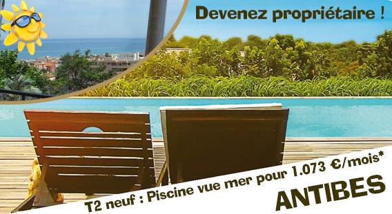 Devenez propriétaire d'un magnifique 2 pièces neuf avec vue mer pour 1.073 € par mois*