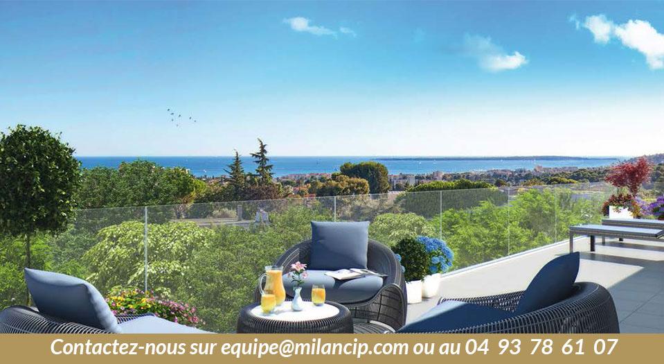 ANTIBES - Dernier Etage neuf Vue mer panoramique