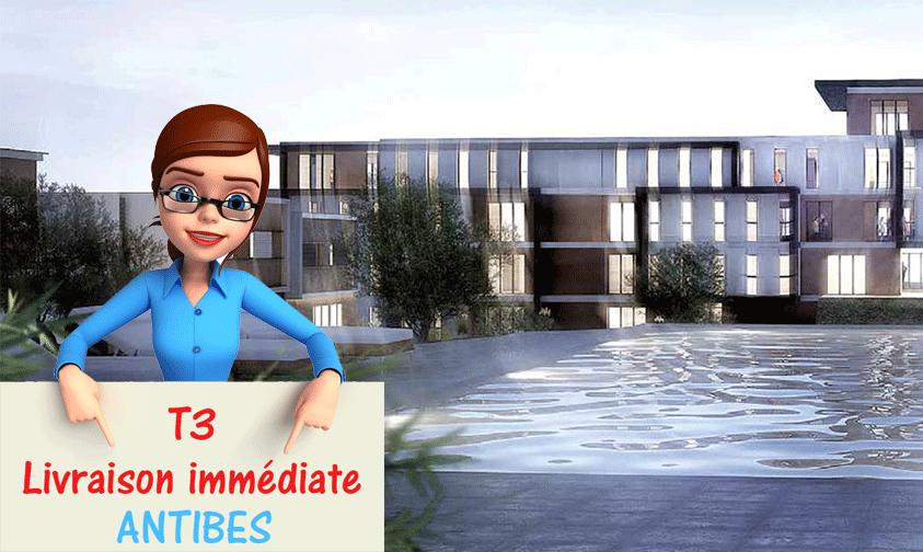 Profitez d'un appartement neuf T3 sur Antibes en livraison immédiate de 62 m² avec 14 m² de terrasse