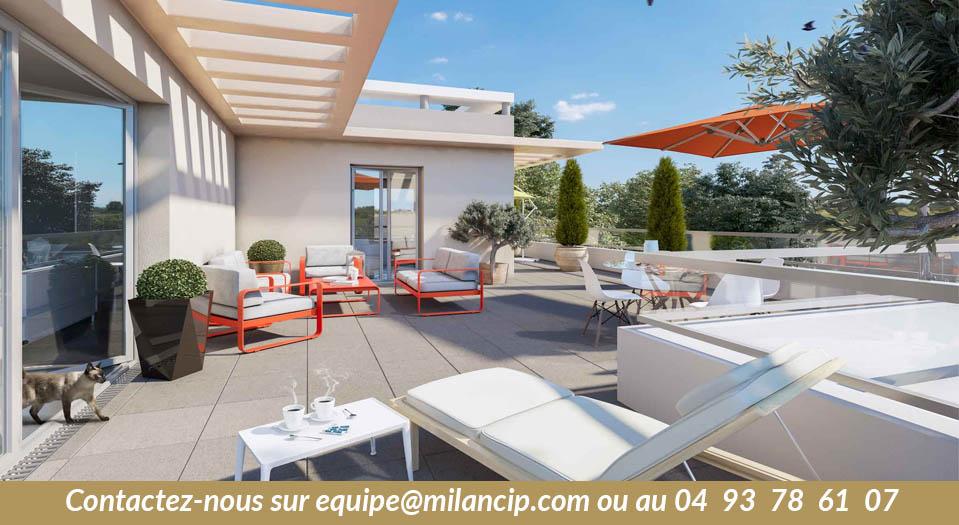 Top 10 des grandes terrasses pour les appartements neufs 3 pièces à moins de 350 K€ - Alpes Maritimes
