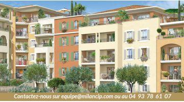 Appartement 4 pièces, neuf, sur le toit au centre de Cagnes sur Mer avec une magnifique terrasse de 80 m² en livraison immédiate