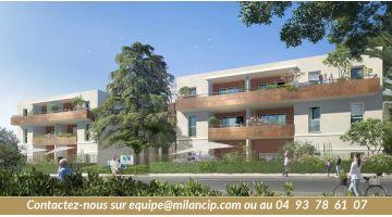 Petits prix - Gros avantages - Pour cette nouvelle résidence neuve d'Antibes : 3 pièces + 2 stationnements à partir de 251.500 €